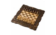 Шахматы + нарды резные Бриз 60 Haleyan