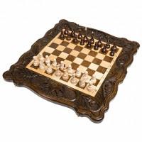 Шахматы + нарды резные Корона 50 Haleyan