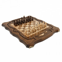 Шахматы + Нарды резные c Араратом 40 Haleyan