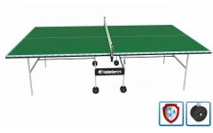 Всепогодный теннисный стол (усиленная модель) VIP+ (зеленый) с сеткой