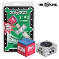 Инструмент для обработки наклейки Cue Cube с мелом блистер