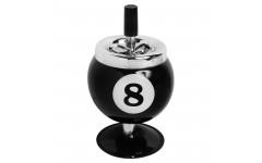 Пепельница Бильярдный шар №8 на подставке