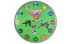 Часы настенные «12 шаров» D32 см (зеленые), пластик