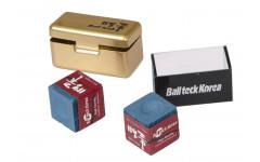 Мел «Ball teck PRO II» (2 шт, в золотистой металлической коробке) синий