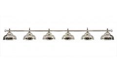 Лампа на шесть плафонов «Ravena» (серебристая штанга, серебристый плафон D38см)