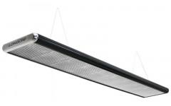 Лампа плоская люминесцентная«Longoni Nautilus» (черная, серебристый торец, серебристый отражатель, 320x31x6см)